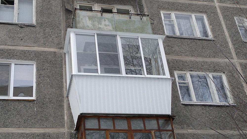 Балконы и лоджии алюминиевые - фотографии работ.