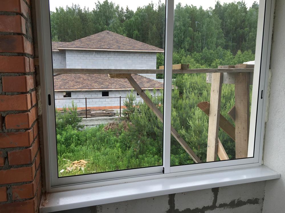 Остекление балконов и лоджий алюминиевым профилем в екатерин.