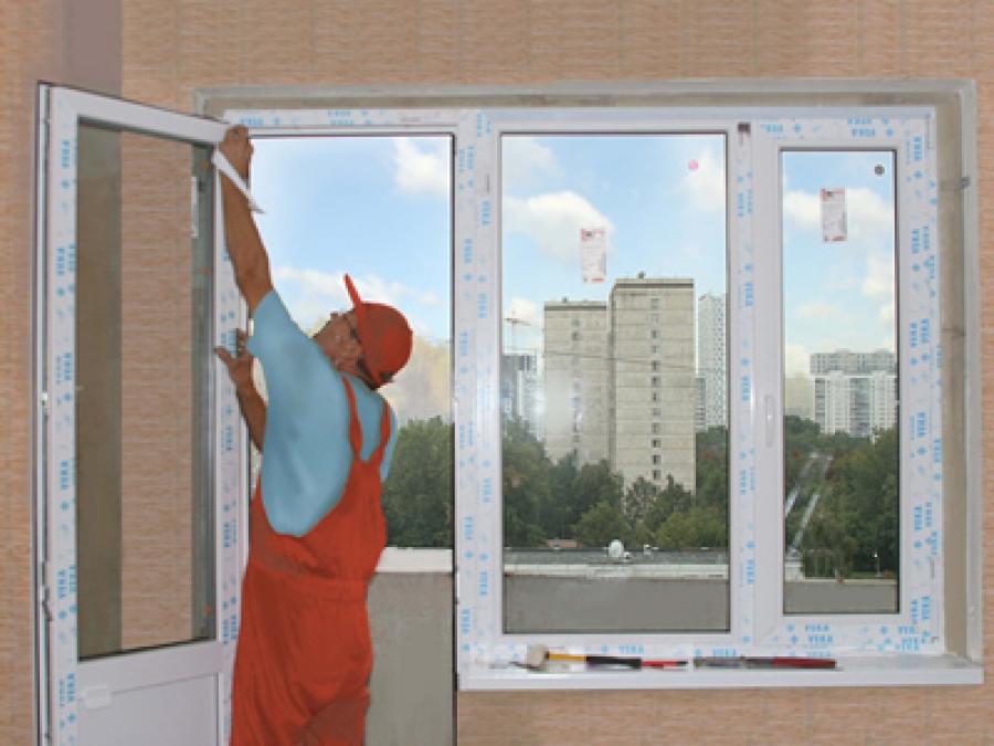 Установка пластиковых окон балконов